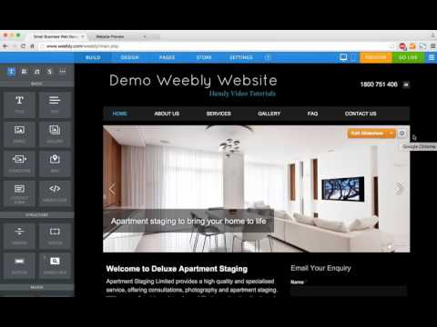 6 How to Add a Slideshow in Weebly   Web Design