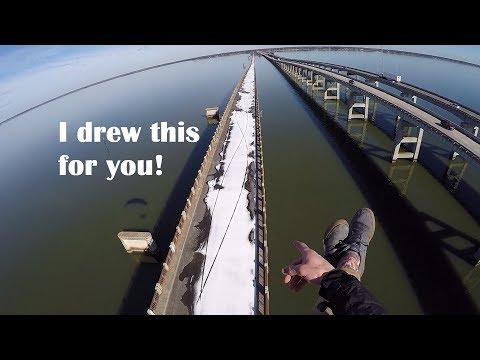 Sketchy Nearby Bridge Takeoff and Footdrag Art