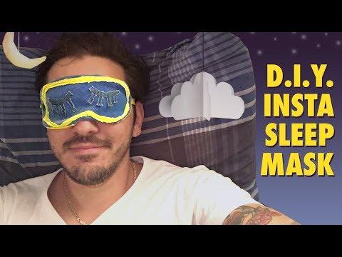 How-to make the Instagram Sleeping Mask - sleeping mask tutorial