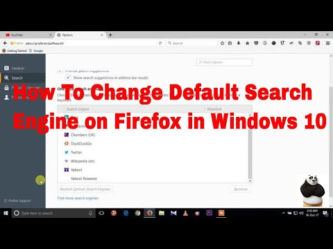 How to change default search engine in Firefox address bar