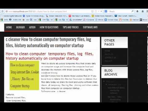 how to clean computer files history automatically on computer startup