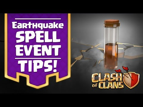 Best Earthquake Spell Tips in One Attack! EQ Spell CoC Strategy - Clash of Clans Event!