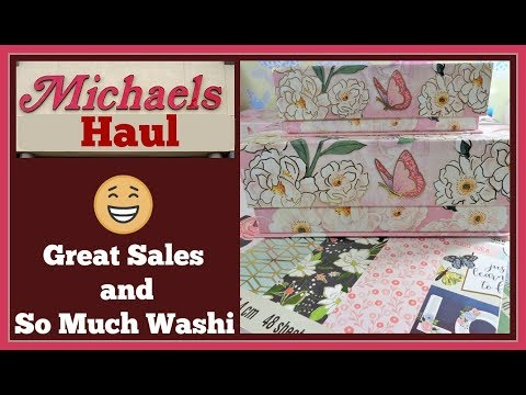 Michaels Haul 🤑 Huge Washi Sales and Paper