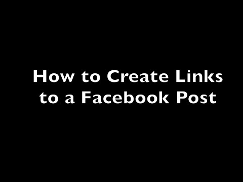 How to Link to a Facebook Post