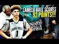 LaMelo Ball Scores 92 POINTS!!!! 41 In The 4th ...