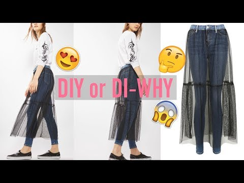 DIY or DI-WHY | Topshop Tulle Jeans UGLIEST JEANS EVER?!