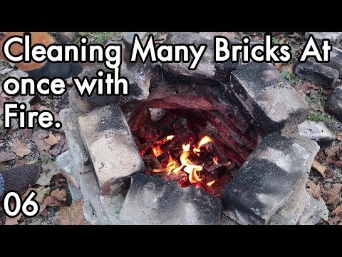 Brickeology 06: Reclaiming Bricks, Cleaning Mortar/Cement From Many Refractory Brick