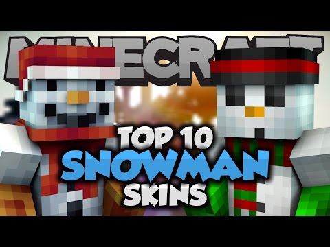 Top 10 Minecraft SNOWMAN SKINS! - Best Minecraft Skins