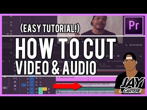 Adobe Premiere Pro CC - How To Cut Video And Audio - How To Split A Clip Tutorial