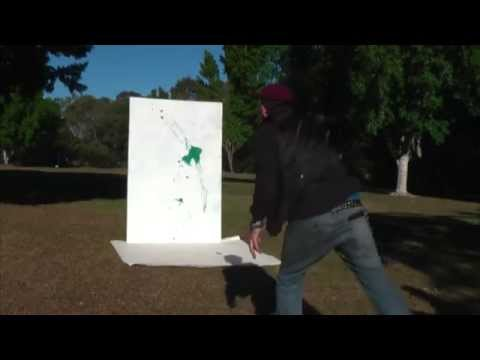 Art Lesson: How To Paint Bomb a Canvas