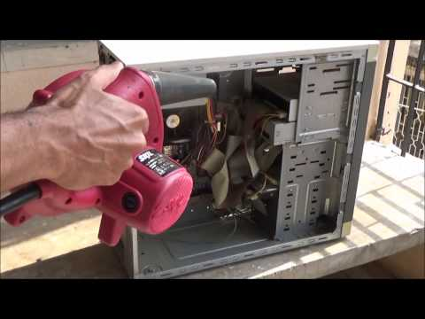 How to Remove or Eliminate PC Dust using Skil 8600 Air Blower