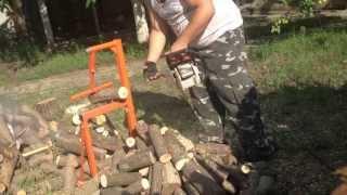 Заготовка дров бензопилой Stihl MS 180