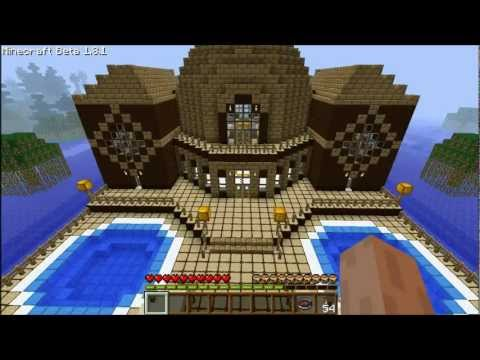 Minecraft Explaining Of How To Build A Wooden Mansion Episode - 38