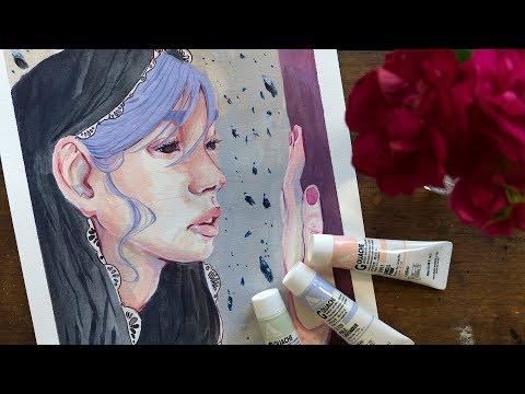 Holbein Acryla Gouache Review -