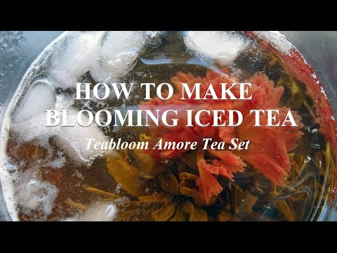 How To Make Blooming Iced Tea 🌸 Teabloom