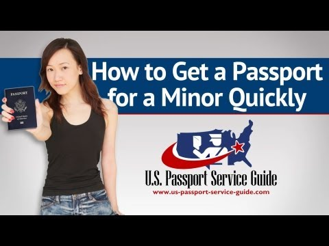 How to Get a Passport for a Minor Quickly