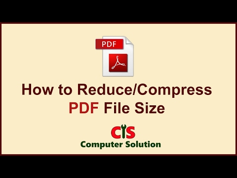 How to Reduce/Compress PDF File Size