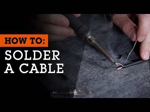 How To Solder an Audio Cable