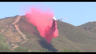 """California battles fires with """"fire plane"""""""