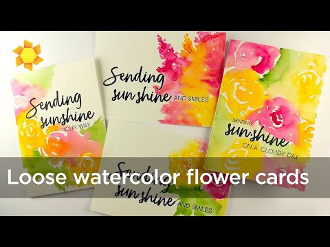 Watercolor Flower Series #22: Loose Watercolor Flower Cards