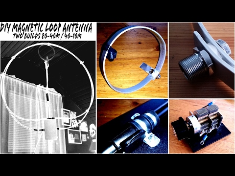 DIY Man Portable Magnetic Loop Antenna Beginners Build for Ham Radio