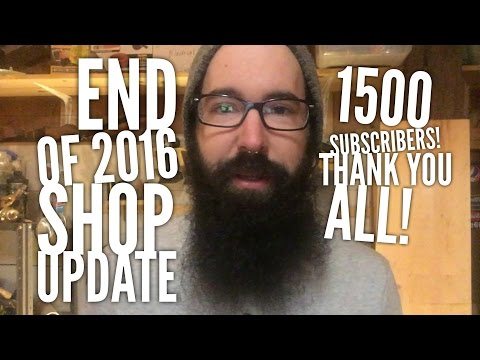 End of 2016 Shop Cleanup and Update KMM Vlog 1