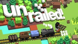 UNRAILED! - OUR TRAIN IS OUT OF TRACK! (4 Player Gameplay)