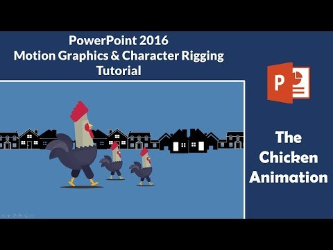 The Chicken Animation | Character Rigging and Motion Graphics in PowerPoint 2016 Tutorial