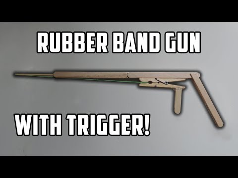How to Make A Popsicle Stick Gun With Trigger. (Full HD)