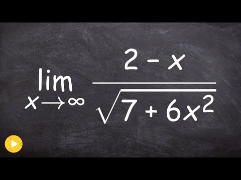 Calculus - Evaluate a limit at infinity with a radical in denominator