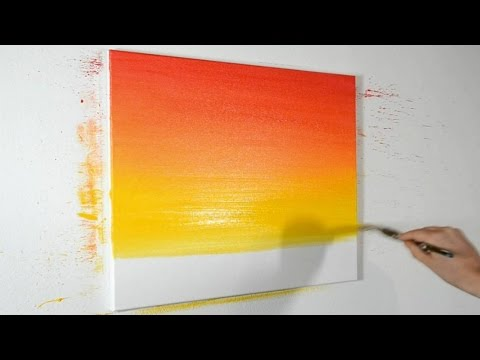 How to Blend Acrylic Paints - Narrated Demonstration