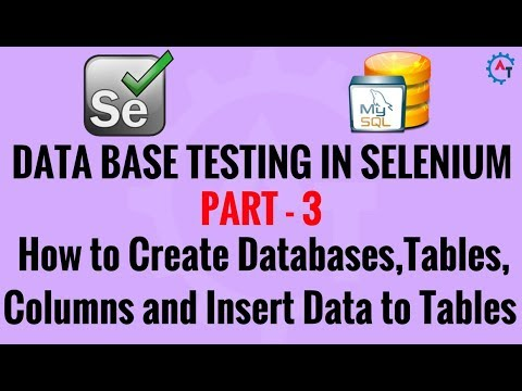 3. Database Testing in Selenium - How to Create Database, Tables  and Columns