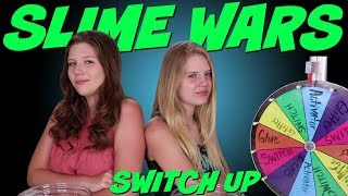 SLIME WARS MYSTERY WHEEL SWITCH UP || Taylor and Vanessa