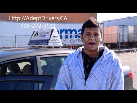 Student Testimony : March 2012 Road Test : Driving Licence Exam : Mississauga Ontario Canada