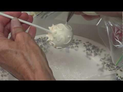 Wedding Cake Pop Decorating Ideas - How To Bride Cake Pop Tutorial