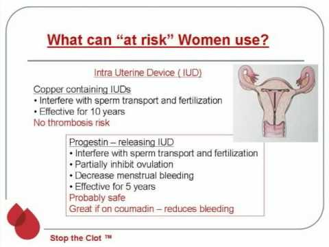 Womens Issues with Blood Clotting Colleen T. Morton, MD Part 4