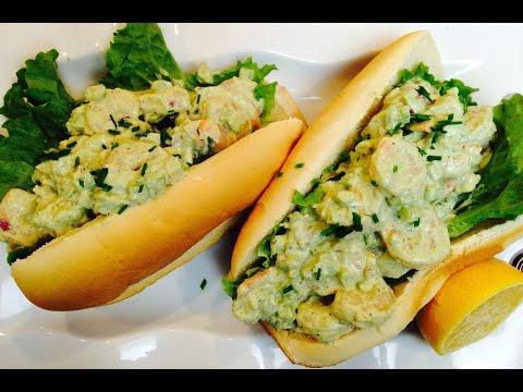 Tasty Creamy Shrimp Roll Sandwich Recipe | DinnerThymeWithApril