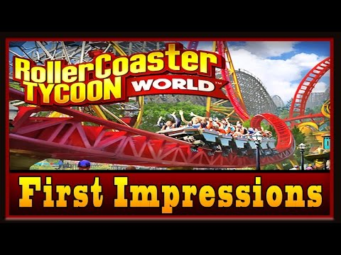 Roller Coaster Tycoon World Gameplay Beta -  First Roller Coaster Build And Ride