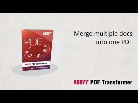 Merge Multiple Documents into One PDF File