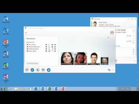 Share desktop and programs in Lync 2013