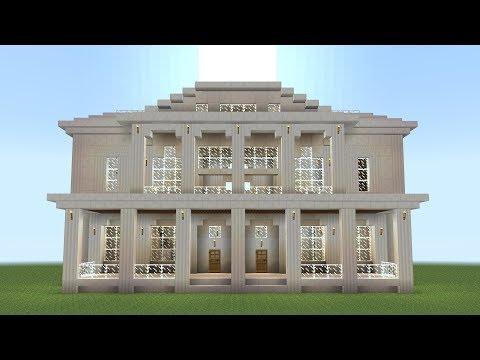 Minecraft - How to build a quartz mansion