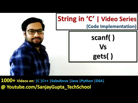 Difference between scanf( ) and gets( ) function to read string in c programming language