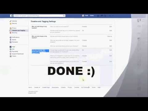 how to make my facebook timeline private   No one's tags