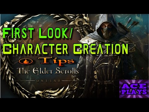 THE ELDER SCROLLS ONLINE -  CHARACTER CREATION (MALE & FEMALE ALL RACES CLASSES OPINIONS & TIPS!