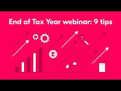 End of Tax Year webinar: 9 tips