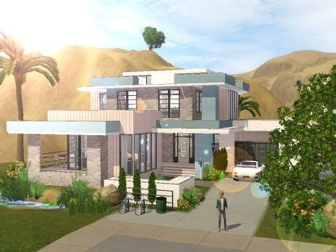 The Sims 3 - Building a small modern familyhouse