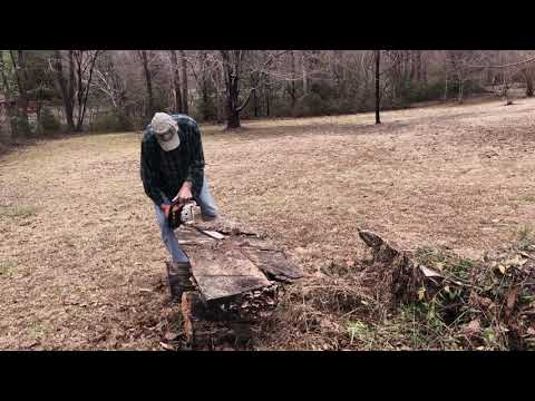Chainsaw Trimming  and Cedar Branches for Erosion Control.