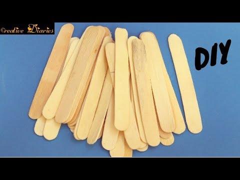 Best DIY Ice Cream Stick Craft idea I Popsicle Stick craft I Creative Diaries