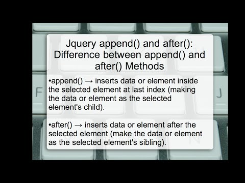jQuery append() and after(): Difference between append and after Methods in jQuery