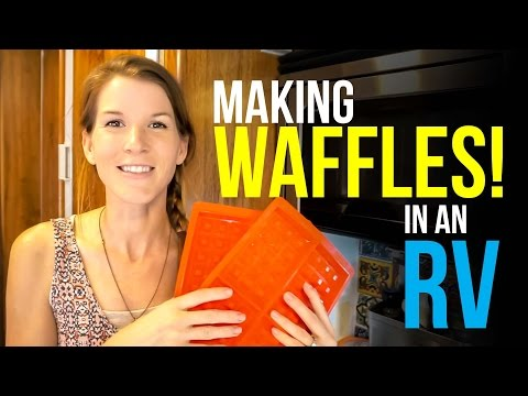 SILICONE WAFFLE MAKER:  A REVIEW  in an RV